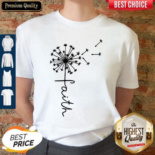 Awesome Faith Dandelion Diabetes Awareness Available Shirt