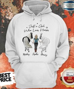 Awesome Just A Girl Who Loves Horses Mickey Sophie Darcy Hoodie