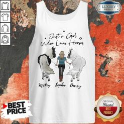 Awesome Just A Girl Who Loves Horses Mickey Sophie Darcy Tank Top