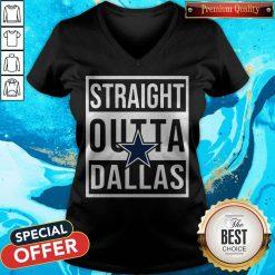 Awesome Straight Outta Dallas V-neck