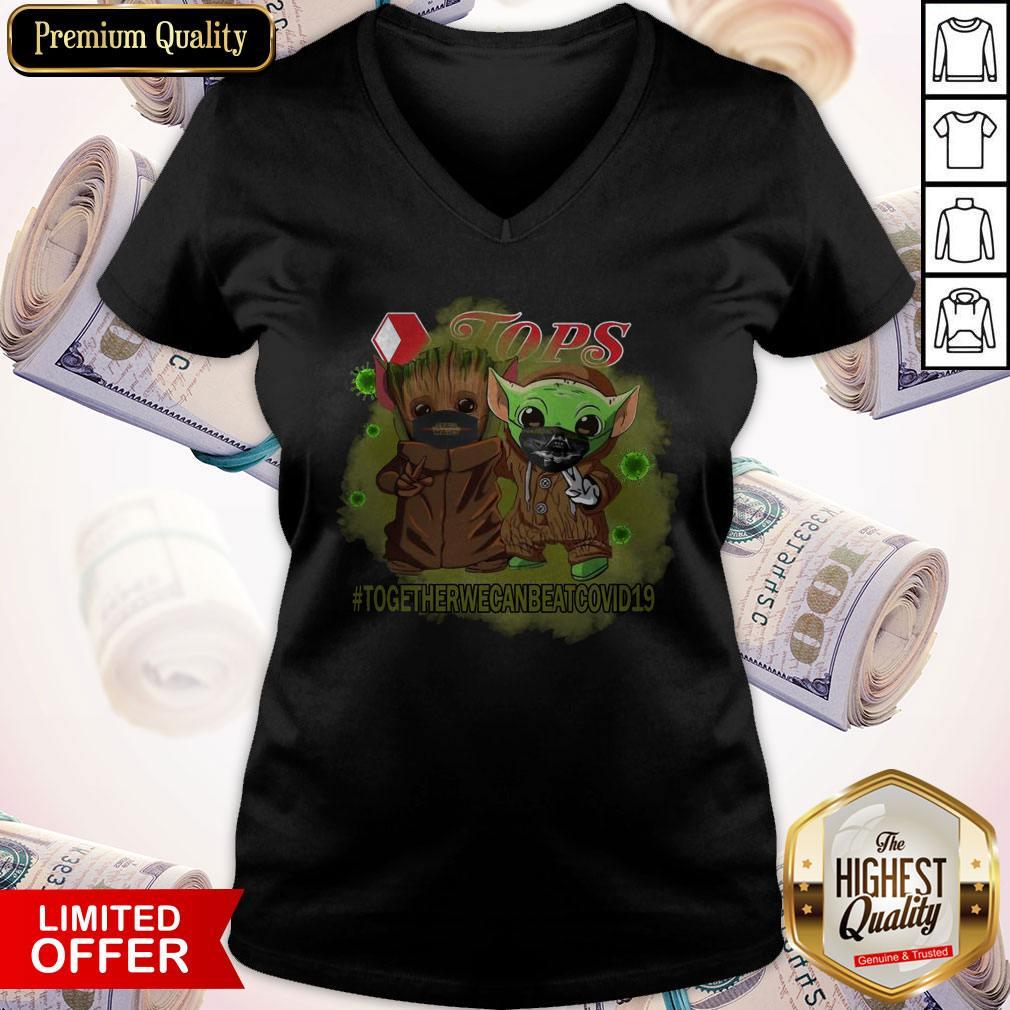 Baby Groot And Baby Yoda Face Mask Star Wars Darth Vader Jops Together We Can Beat Covid 19 V- neck