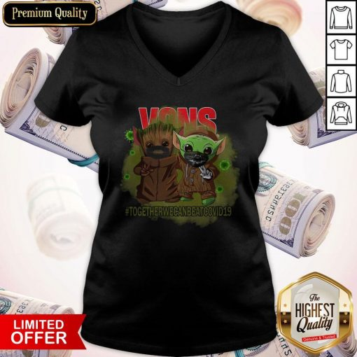 Baby Groot And Baby Yoda Face Mask Star Wars Darth Vader VOns Together We Can Beat Covid 19 V- neck