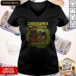 Baby Groot And Baby Yoda Face Mask Star Wars Darth Vader Waffle House Together We Can Beat Covid 19 V- neck