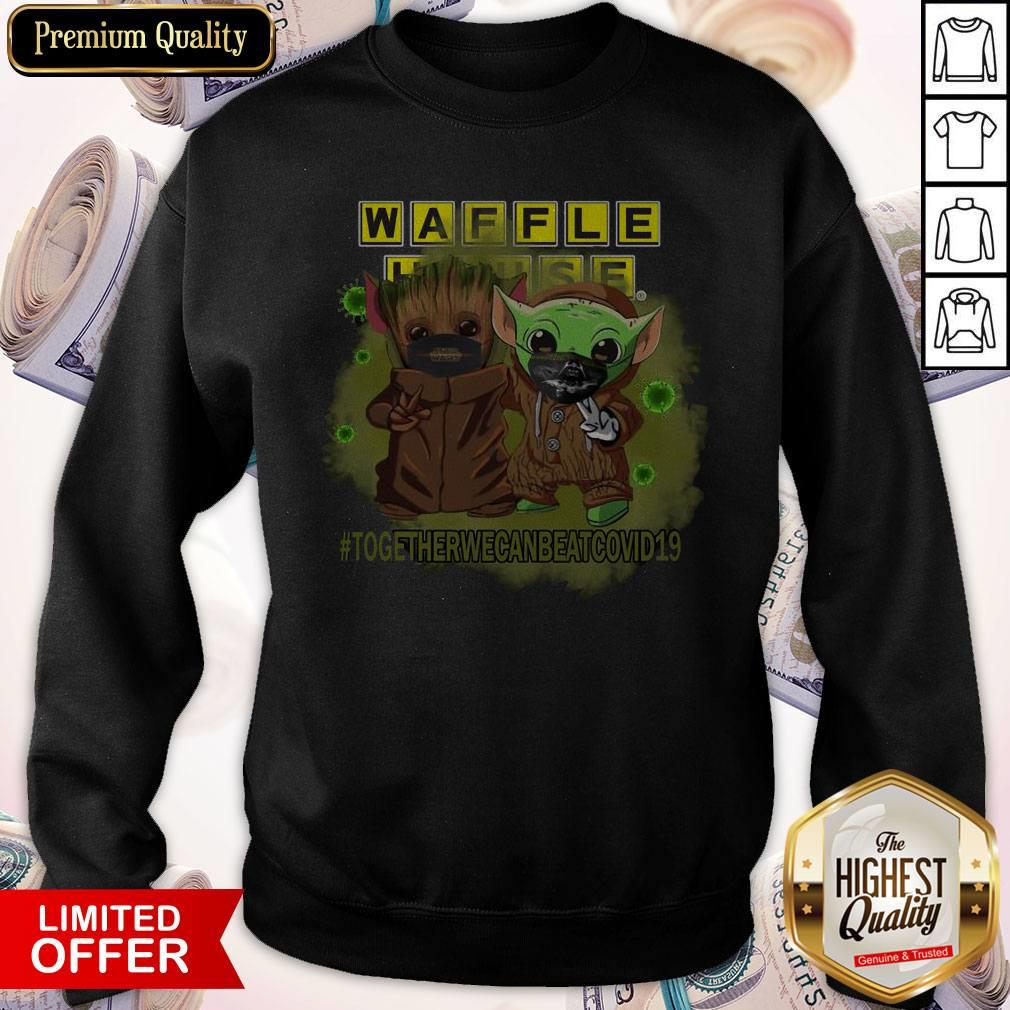 Baby Groot And Baby Yoda Face Mask Star Wars Darth Vader Waffle House Together We Can Beat Covid 19 Sweatshirt