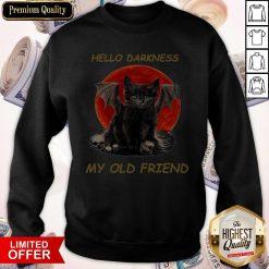Batcat Hello Darkness My Old Friend Sweatshirt