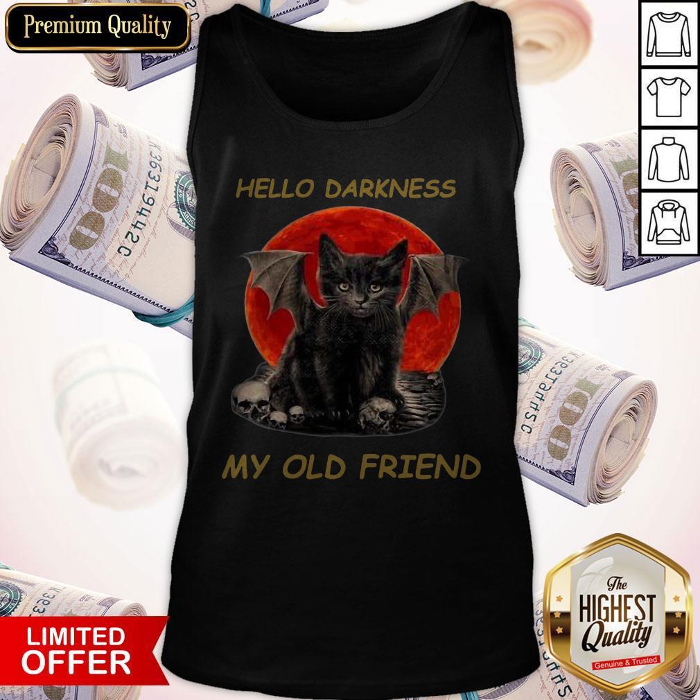 Batcat Hello Darkness My Old Friend Tank Top