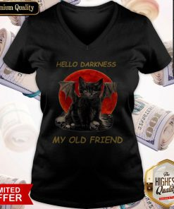 Batcat Hello Darkness My Old Friend V- neck