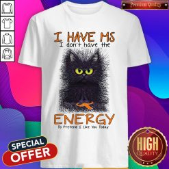 Black Cat I Have Ms I Don't Have The Energy To Pretend I Like You Today Shirt