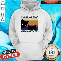 Black Cats There Are No Ordinary Cats Vintage Hoodiea