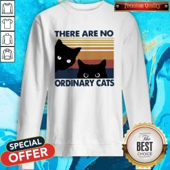 Black Cats There Are No Ordinary Cats Vintage Sweatshirt
