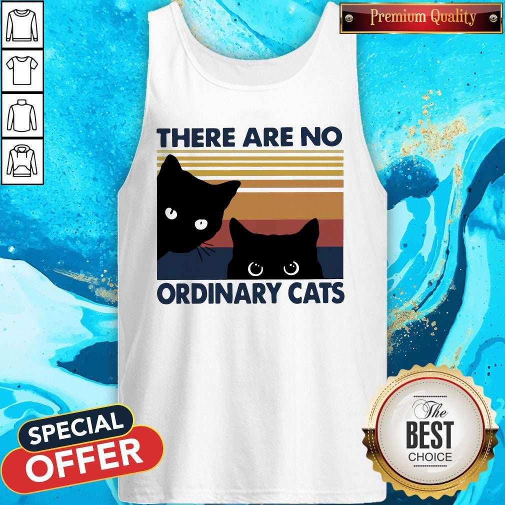 Black Cats There Are No Ordinary Cats Vintage Tank Top