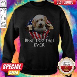 Cute Blood Inside Me Cavachon Dog American Flag Best Dog Dad Ever Sweatshirt
