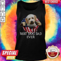 Cute Blood Inside Me Cavachon Dog American Flag Best Dog Dad Ever Tank Top