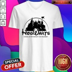 Cute Disney Land Hogwarts School Of Witchcraft And Wizardry V-neck