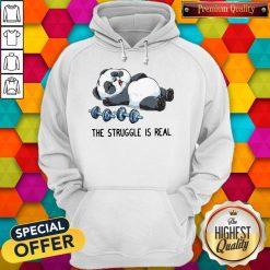 Cute Panda The Struggle Is Real Bear Deadlift Funny Gym Hoodie