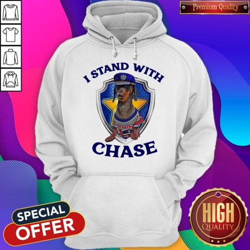 Dachshund I Stand With Chase Hoodiea