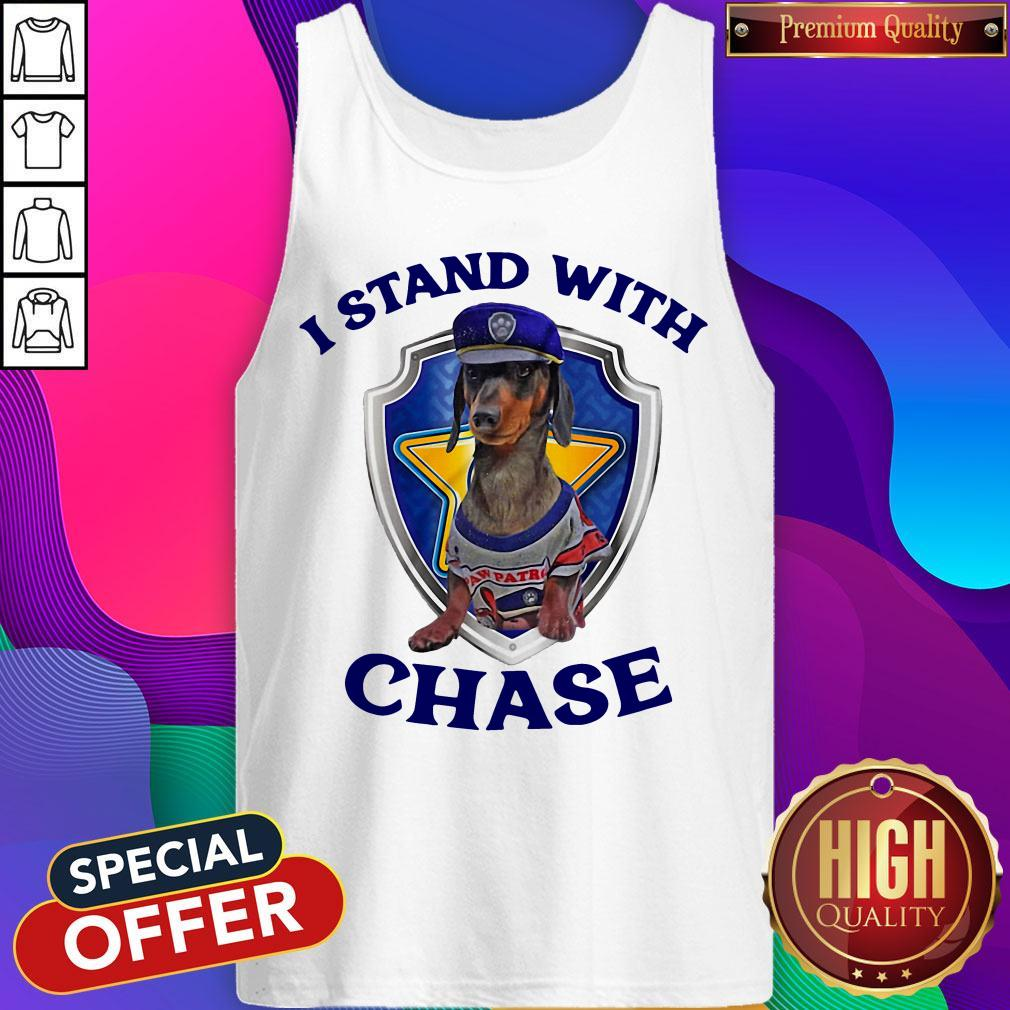 Dachshund I Stand With Chase Tank Top