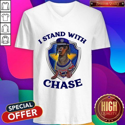 Dachshund I Stand With Chase V- neck
