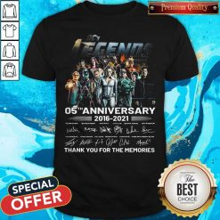 Dc's Legends 05th Anniversary 2016 2021 Thank You For The Memories Signatures Shirt