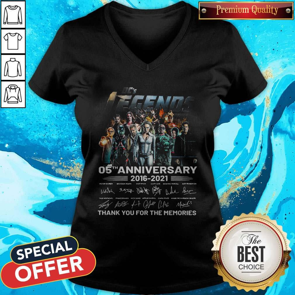 Dc's Legends 05th Anniversary 2016 2021 Thank You For The Memories Signatures V- neck