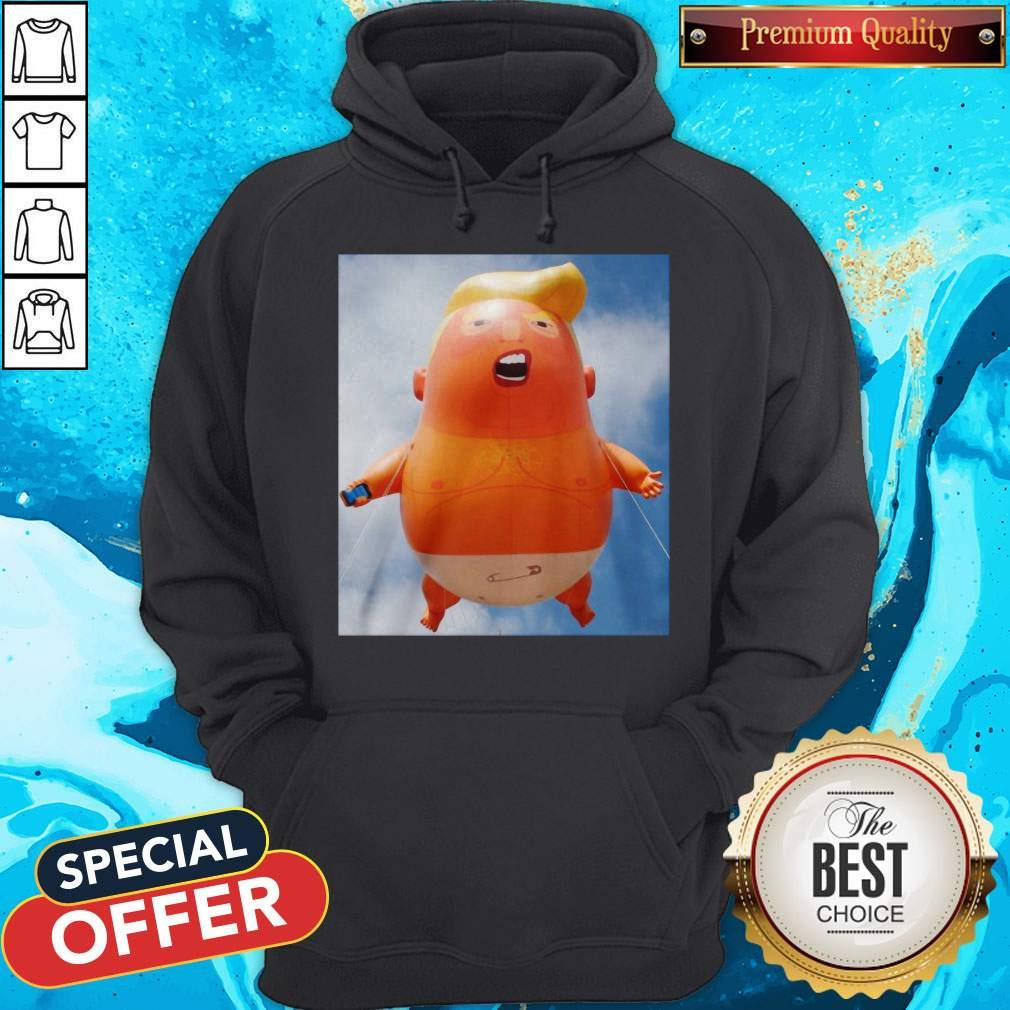 Donald Trump Baby Balloon Hoodiea