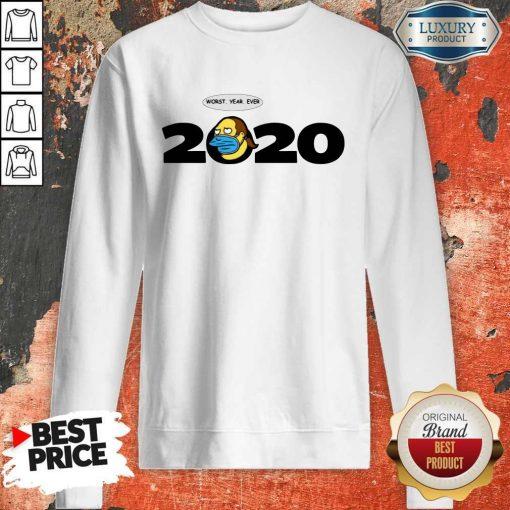 Jeff Albertson Face Mask Worst Year Ever 2020 Sweatshirt