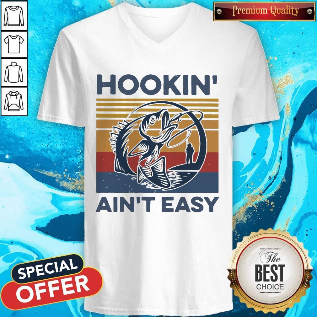 Funny Hookin' Ain't Easy Vintage V- neck