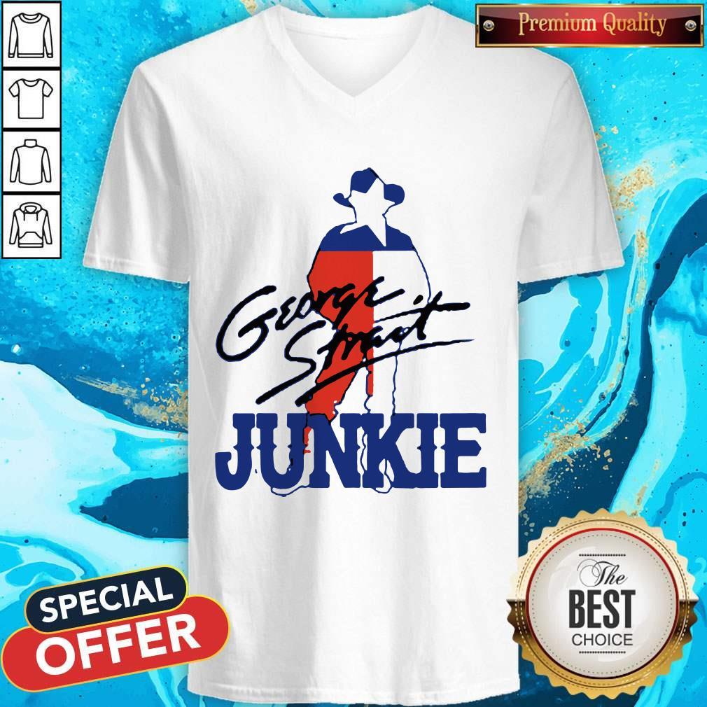 George Strait Junkie V- neck