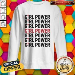 Girl Power Red Black Sweatshirt