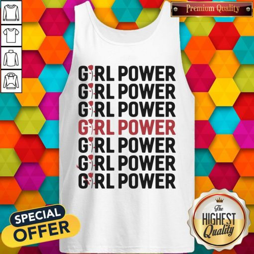 Girl Power Red Black Tank Top