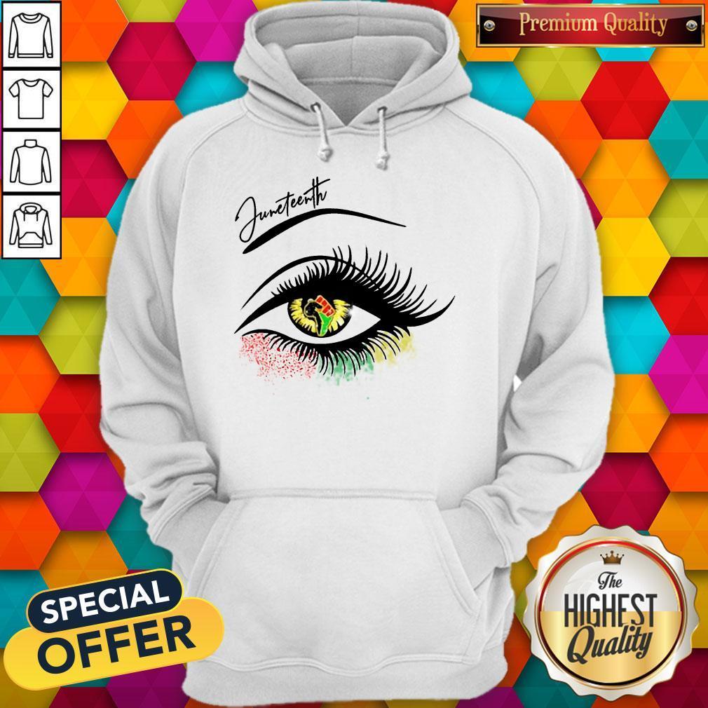 Good Juneteenth Colorful Eye Hoodie