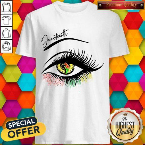 Good Juneteenth Colorful Eye Shirt