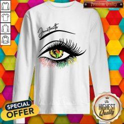Good Juneteenth Colorful Eye Sweatshirt