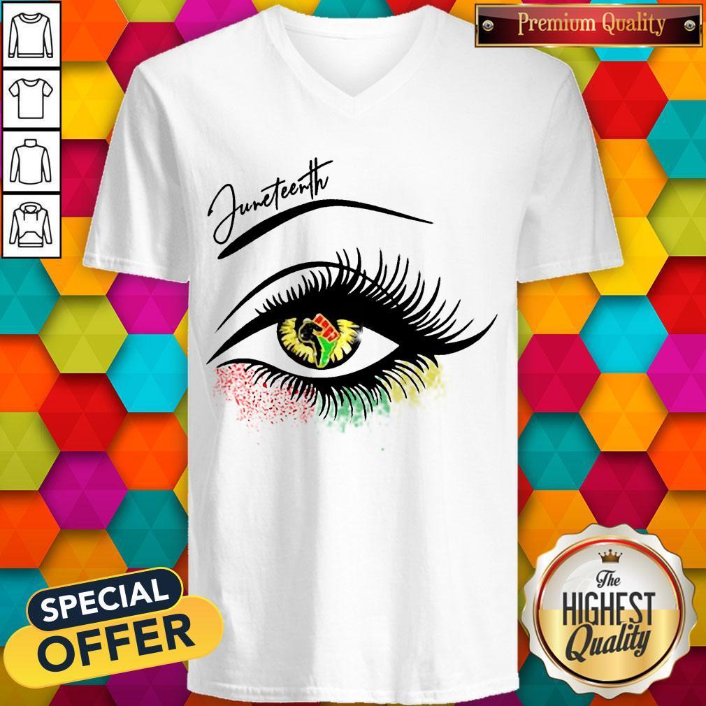 Good Juneteenth Colorful Eye V-neck