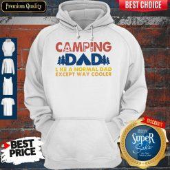 Good Vintage Camping Dad Like A Normal Dad Except Way Cooler Hoodie