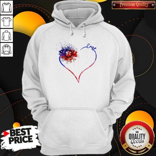 Heart Sunflower EMT Diamond Premium I Do It For My kids Hoodiea