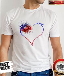 Heart Sunflower EMT Diamond Shirt