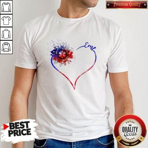 Heart Sunflower EMT Diamond Shirt