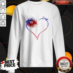 Heart Sunflower EMT Diamond Premium I Do It For My kids Sweatshirt