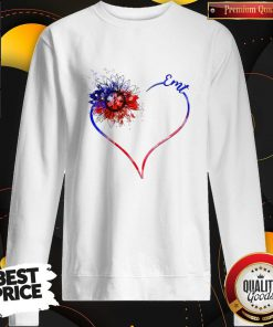 Heart Sunflower EMT Diamond Premium I Do It For My kids Sweatshirt