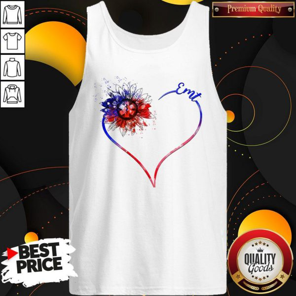 Heart Sunflower EMT Diamond Premium I Do It For My kids Tank Top