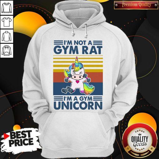 I'm Not A Gym Rt I'm A Gym Unicorn Vintage Hoodiea