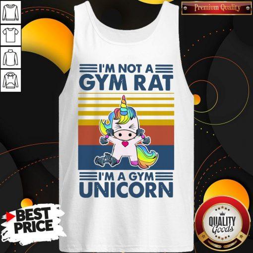 I'm Not A Gym Rt I'm A Gym Unicorn Vintage Tank Top