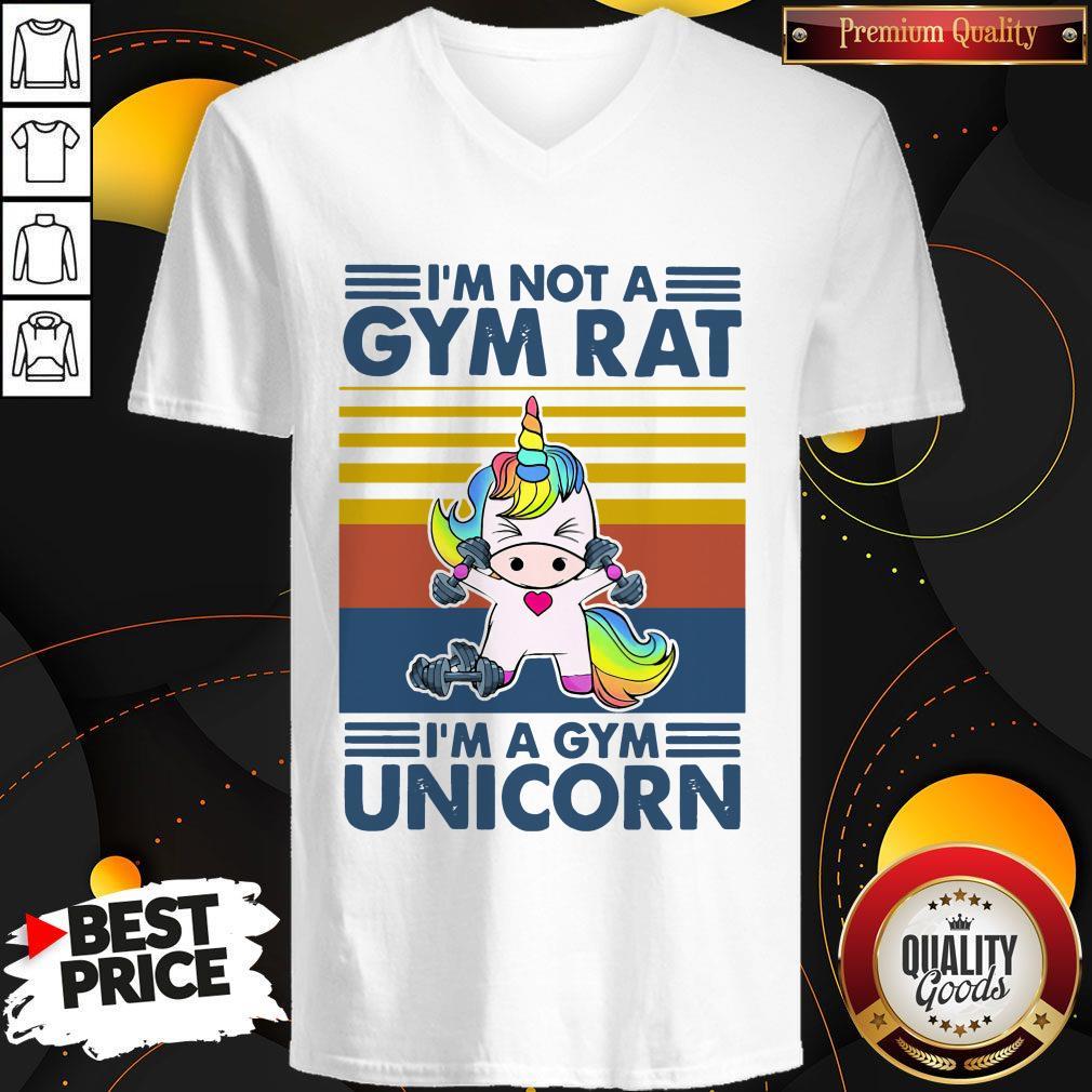 I'm Not A Gym Rt I'm A Gym Unicorn Vintage V- neck