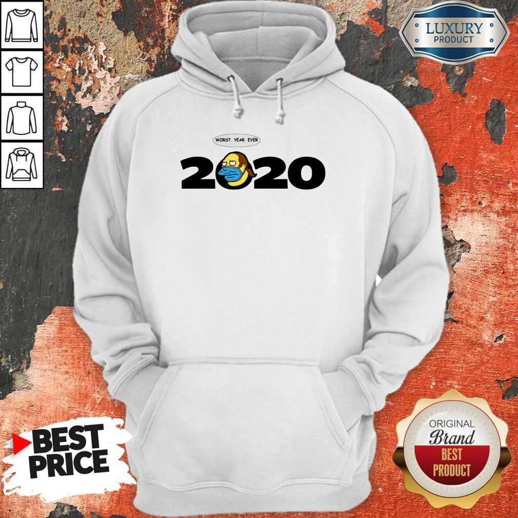 Jeff Albertson Face Mask Worst Year Ever 2020  Hoodiea
