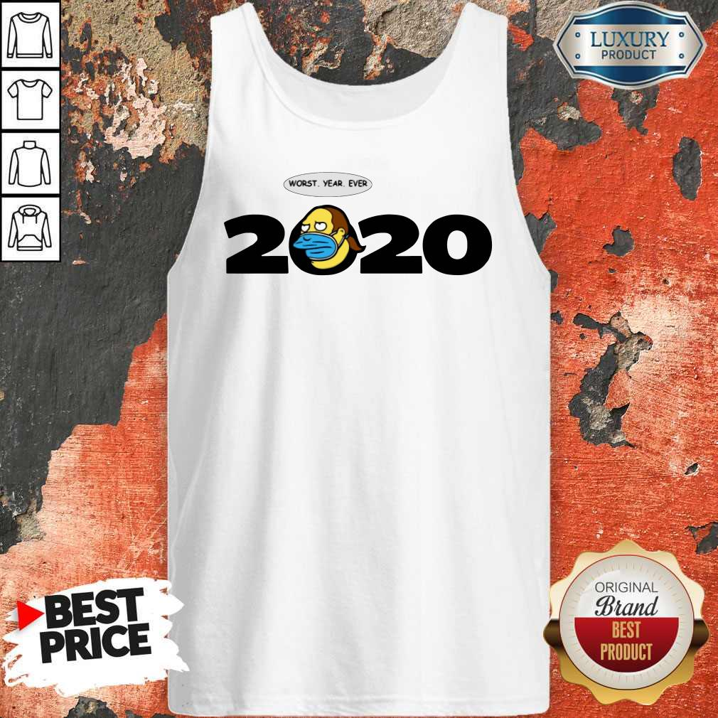 Jeff Albertson Face Mask Worst Year Ever 2020   Tank Top