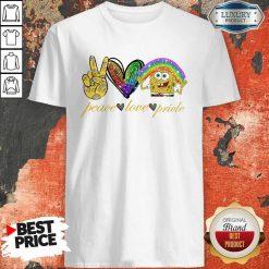 LGBT Peace Love Pricle Sponge Bob Shirt