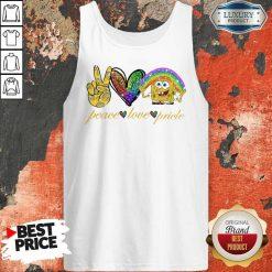 LGBT Peace Love Pricle Sponge Bob Tank Top