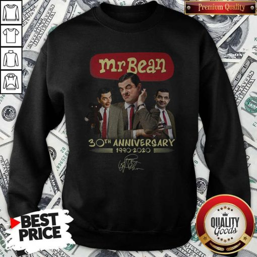 Mr Bean 30th Anniversary 1990 2020 Signature Sweatshirt