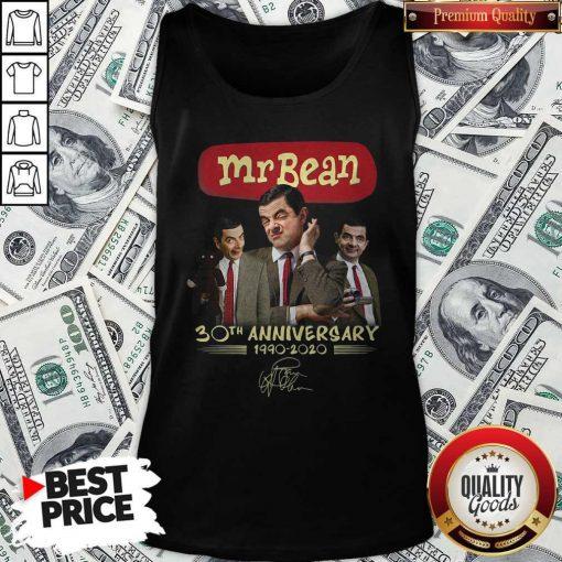 Mr Bean 30th Anniversary 1990 2020 Signature Tank Top